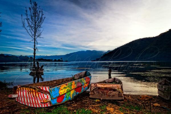 San Lucas Toliman, Guatemala Lake Atitlan - Canoes