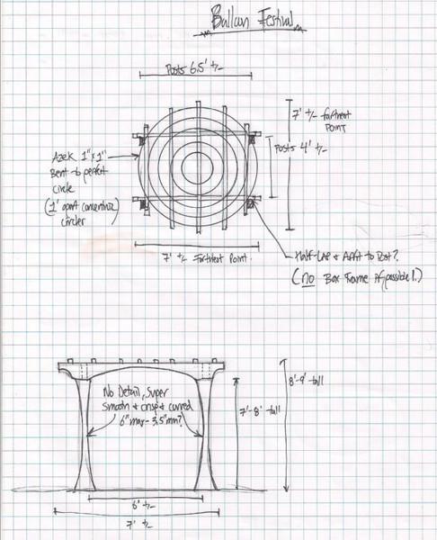 Pergola Sketch for Mark