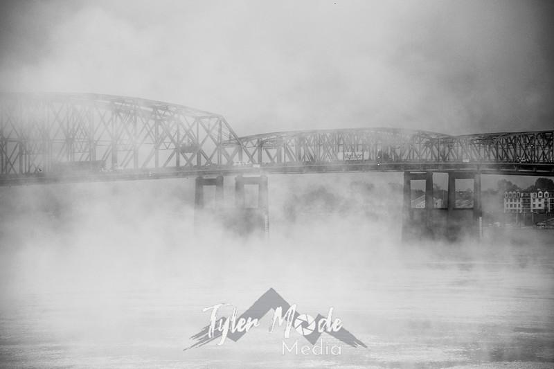 2  G Bridge and Fog BW