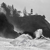 10  G Cape Disappointment Waves BW