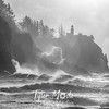 32  G Cape Disappointment Waves BW