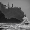 27  G Cape Disappointment Waves BW