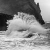 10  G Cape Disappointment Waves Close BW