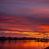 25  G Mount Hood and Columbia River Sunrise Rays