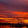 27  G Mount Hood and Columbia River Sunrise Rays