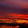 21  G Mount Hood and Columbia River Sunrise Rays