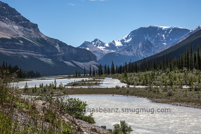 Icefield Parkway from Banff to Red Deer, Jasper and onwards.