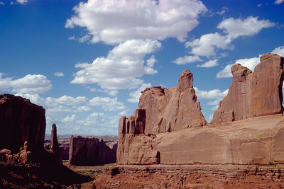 """Park Avenue"" in Arches National Monument"
