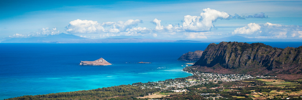 Outer Islands from Olomana Peak