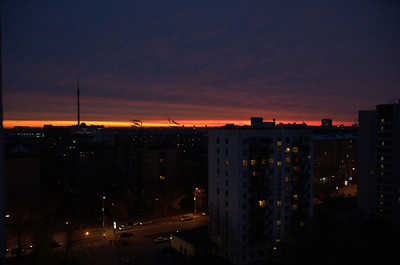 2005-10-26, Sunrise over Ostankino
