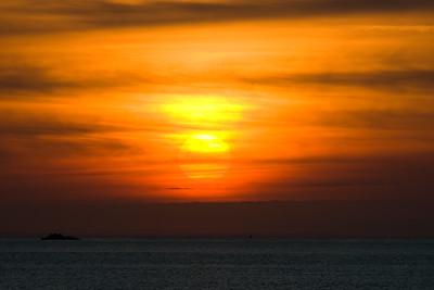 Guernsey, Becq du Nez, Sunrise