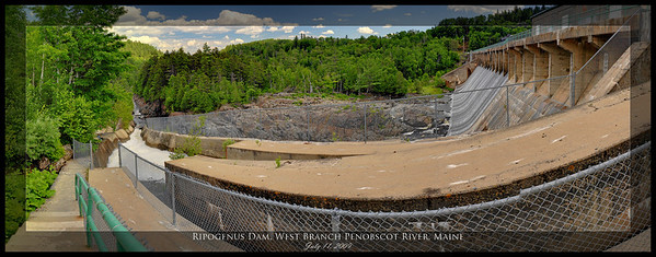 Ripogenus Dam, West Branch Penobscot River, Maine