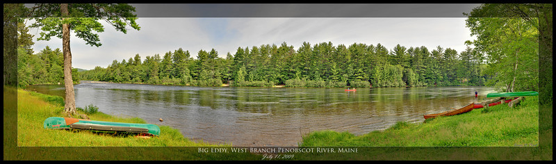 Big Eddy, West Branch Penobscot River, Maine