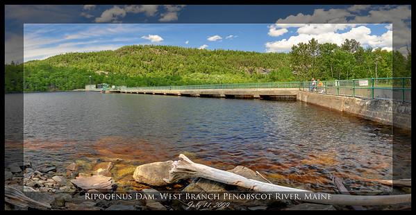 Ripogenus Dam, West Branch Penobscot River, Maine