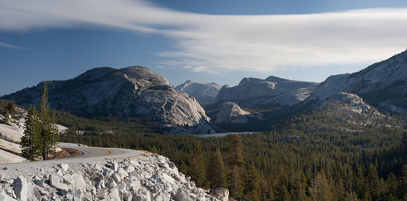Tenaya Lake from Olmsted Point in a photo-mosaic of approximately 5 images. Canon 1Ds Mk II and Leica 100 APO.