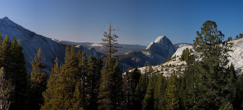 Half Dome from Olmsted Point in a mosaic of four images. Leica 100 APO and Canon 1Ds MKII