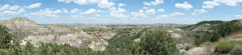 4:1 Pano of North Dakota Badlands