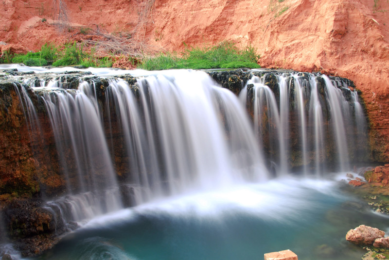 New waterfall (now named Rock Falls) near Supai village