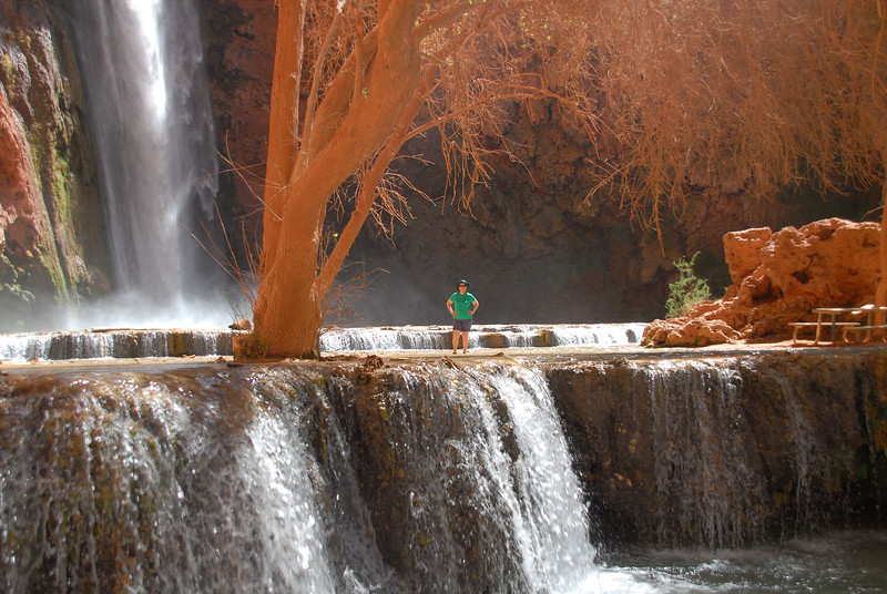 Jane below Mooney Falls