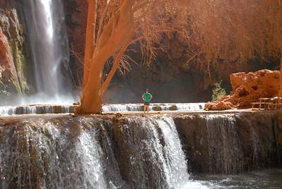 Jane below Mooney Falls
