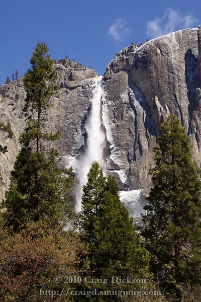 Upper Yosemite Fall from the Yosemite Lodge parking lot