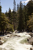 Water flowing away from the base of Lower Yosemite Fall