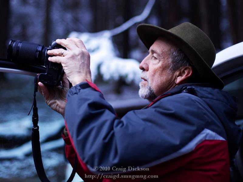 Dave Wyman at Bridalveil Fall
