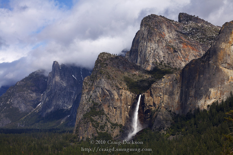 Bridalveil Fall from Tunnel View