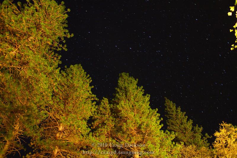 Long exposure of the night sky (Hartshorn's idea)