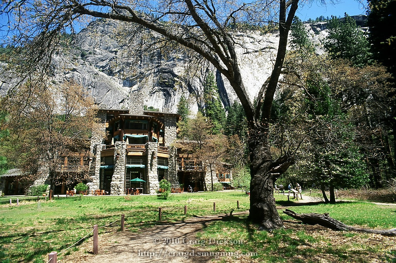 Behind the Ahwahnee Hotel