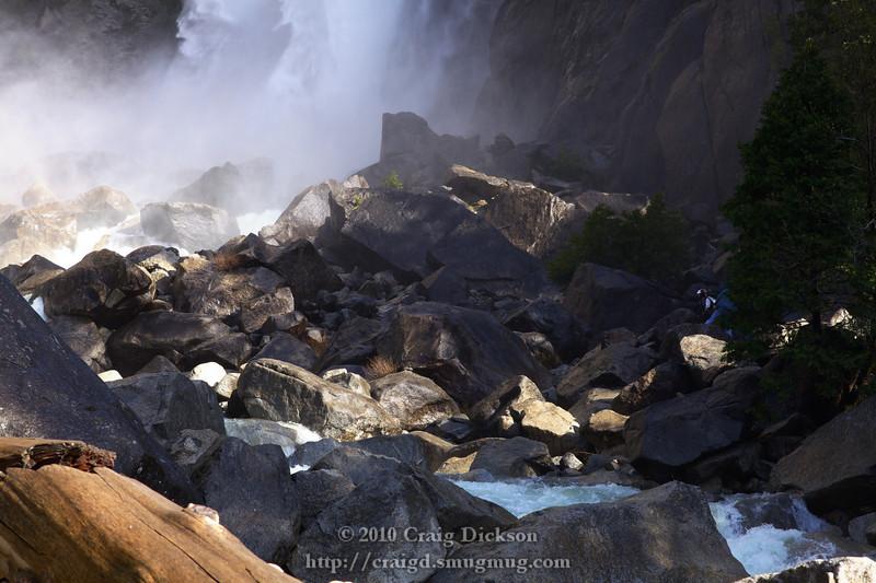 The base of the Yosemite Falls