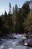 Looking downstream from the base of the Yosemite Falls