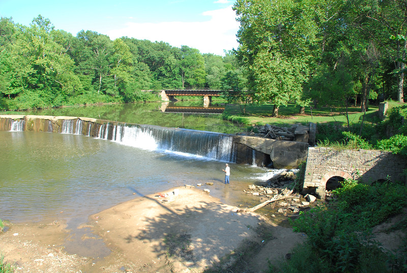 Mill dam at the site of Markle's Mill on Otter Creek north east of Terre Haute, IN
