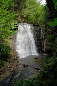 Main waterfall on Little Mill Creek