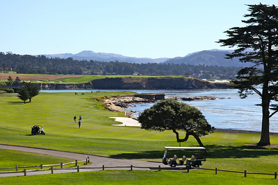 The 18th at Pebble Beach.