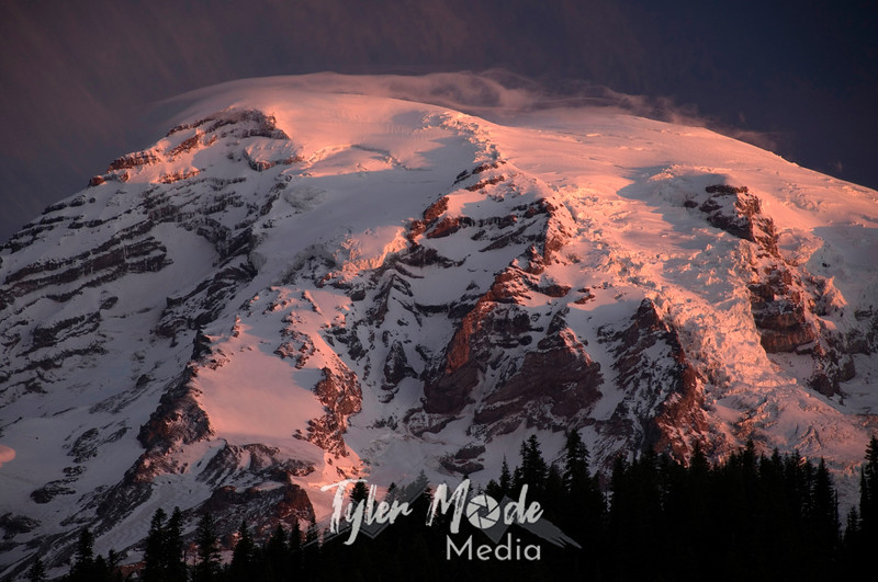 Cover, Mt. Rainer at sunrise