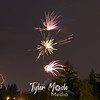 Competing Fireworks, Vancouver, Washington