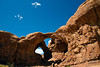 The Double Arch.   Arches National Park, just outside Moab UT.