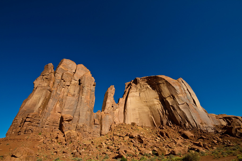 Monument Valley, on the Arizona/Utah state line.