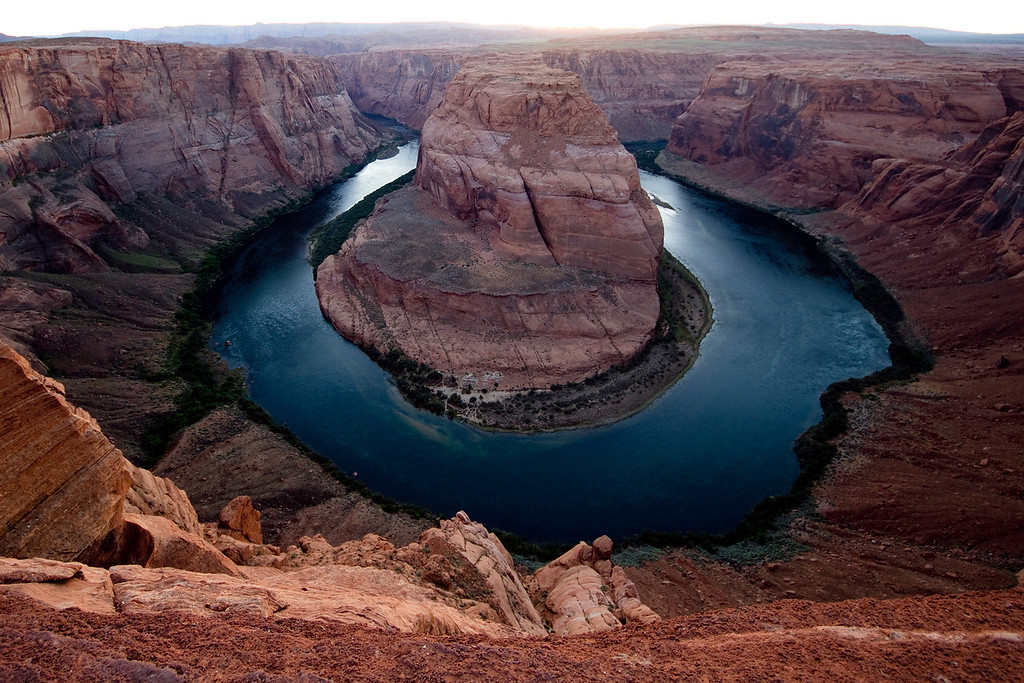 Horseshoe Bend, Page AZ (Shot moments after sunset.)