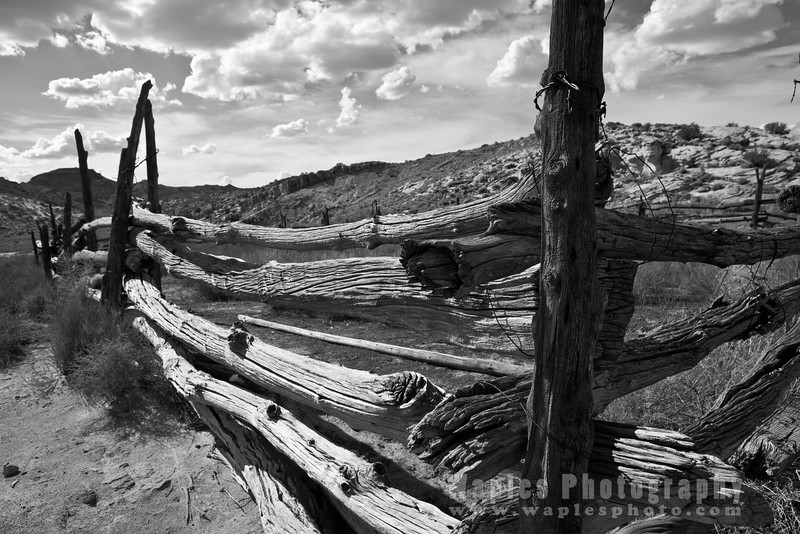 Fence at Wolf Ranch, Arches National Park