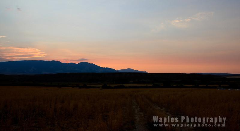 Sunset along WO 20