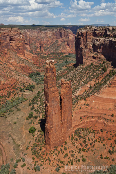 Spider Rock Tower, 800 feet