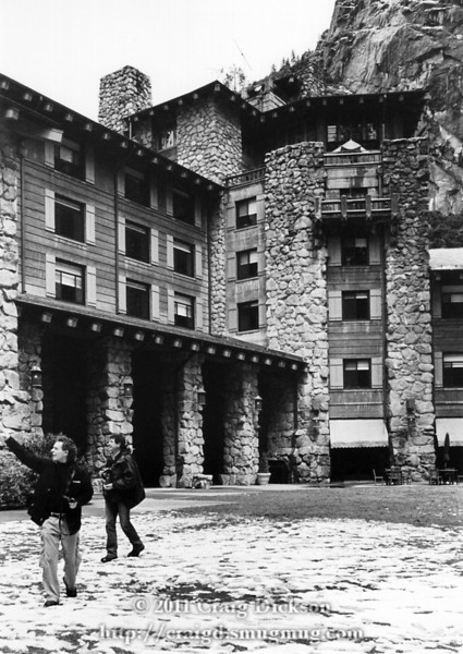 Bill and Brian behind the Ahwahnee Hotel