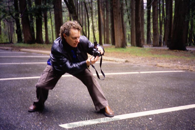 William Hartshorn in action near Bridalveil Fall