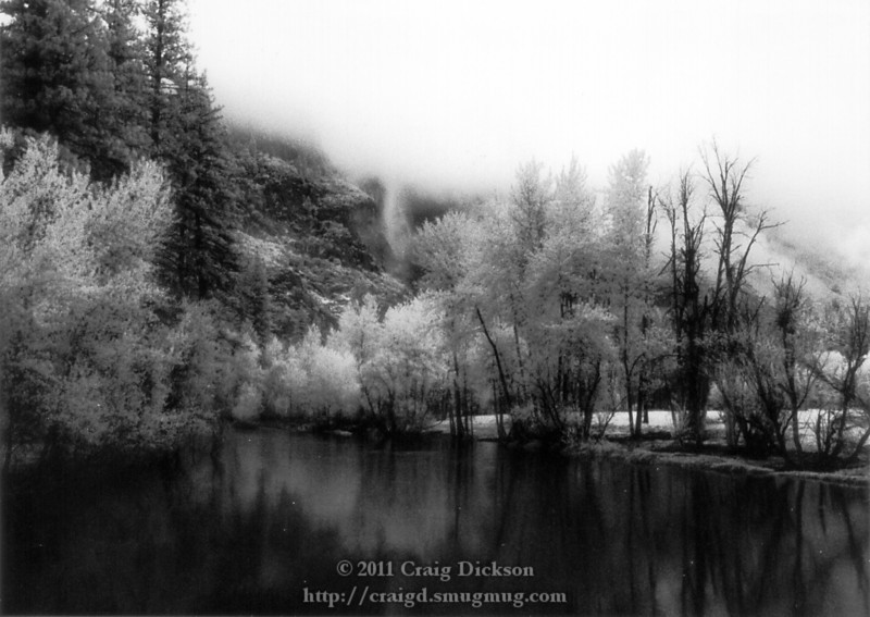 From the Swinging Bridge (infrared)