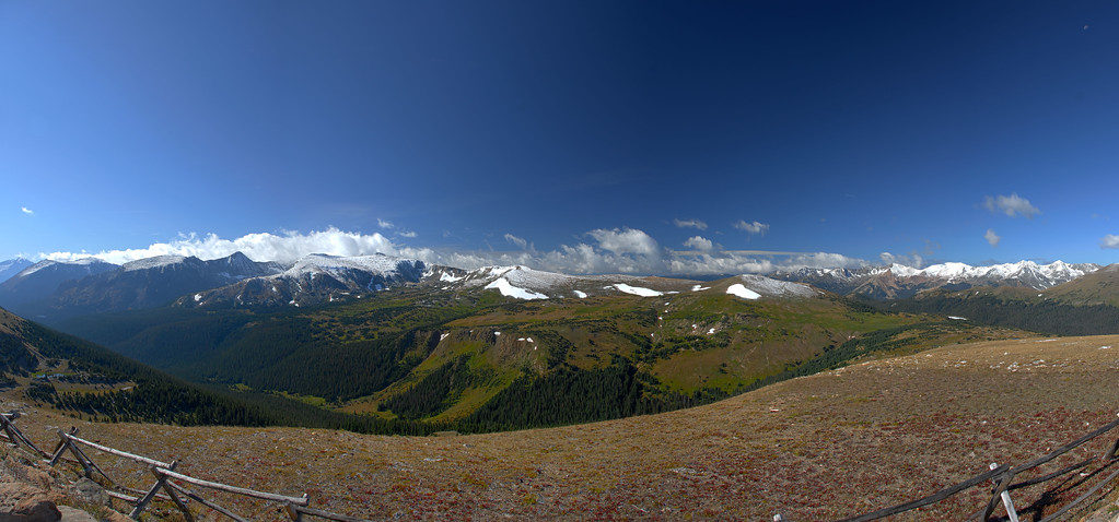 View from Alpine Visitor Center in Rocky Mountain National Park