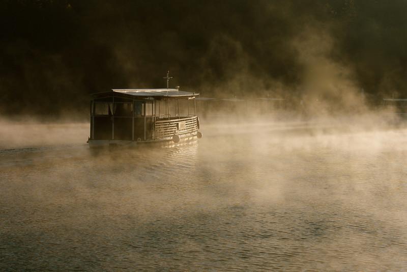 Boat departing, Plitvice