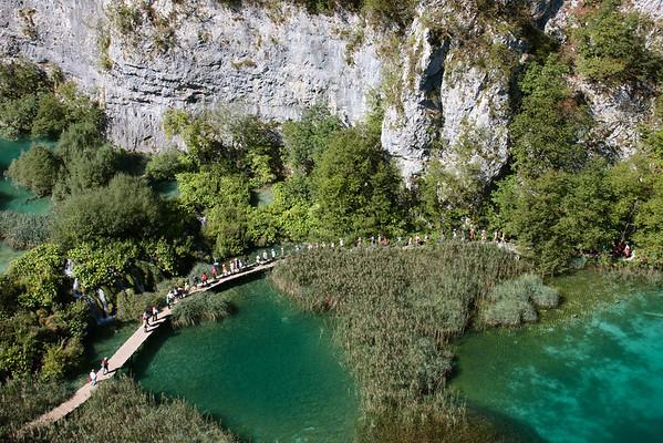 Tourists crossing, Plitvice