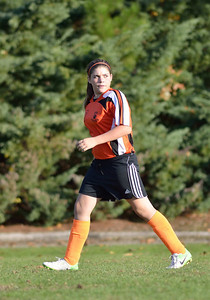 Patti giving her best on the field, mean/competitive look during the Middle School soccer season.